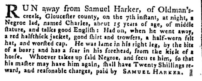 Jul 30 - Pennsylvania Gazette Supplement Slavery 4