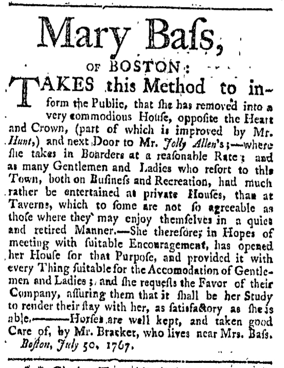 Aug 1 - 8:1:1767 Providence Gazette