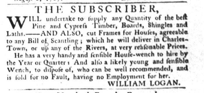 Aug 11 - South-Carolina Gazette and Country Journal Slavery 4