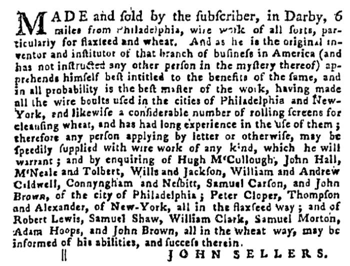 Aug 20 - 8:20:1767 Pennsylvania Gazette