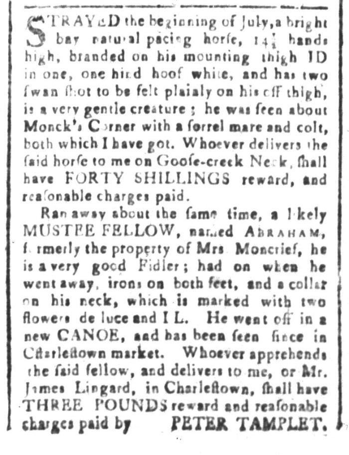 Aug 21 - South-Carolina and American General Gazette Slavery 5
