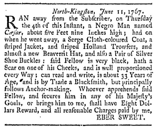 Aug 22 - Providence Gazette Slavery 1