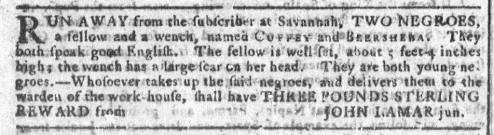 Aug 26 - Georgia Gazette Slavery 3