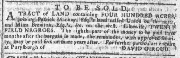 Aug 26 - Georgia Gazette Slavery 5