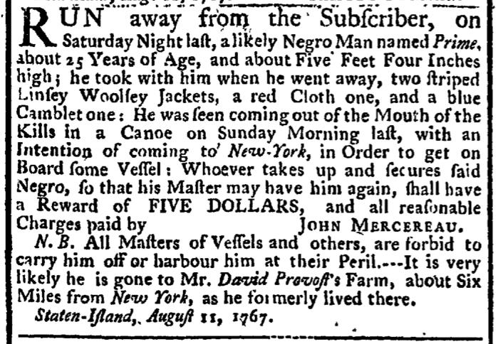 Aug 27 - New-York Gazette Weekly Post-Boy Slavery 1