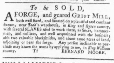Aug 27 - Virginia Gazette Slavery 7