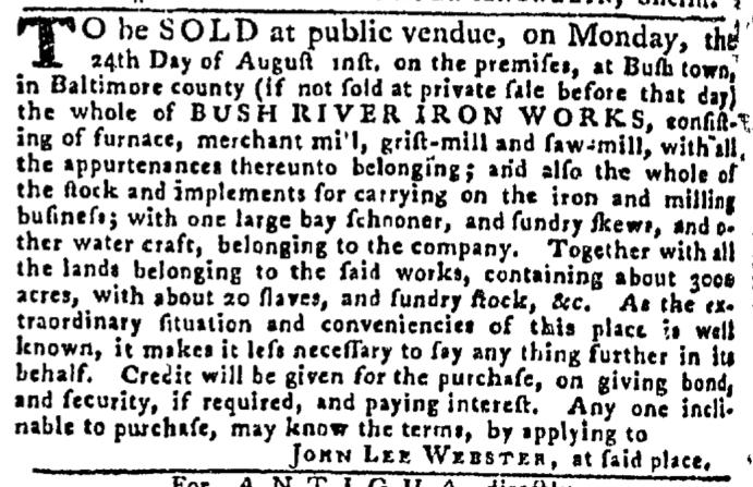Aug 6 - Pennsylvania Gazette Slavery 4