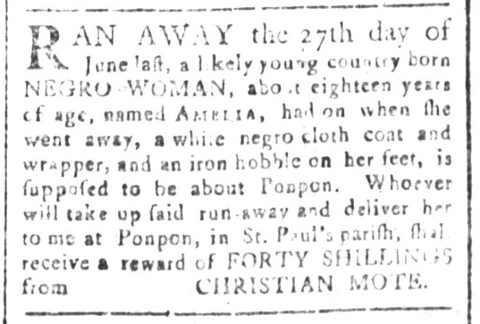 Aug 7 - South-Carolina and American General Gazette Slavery 3