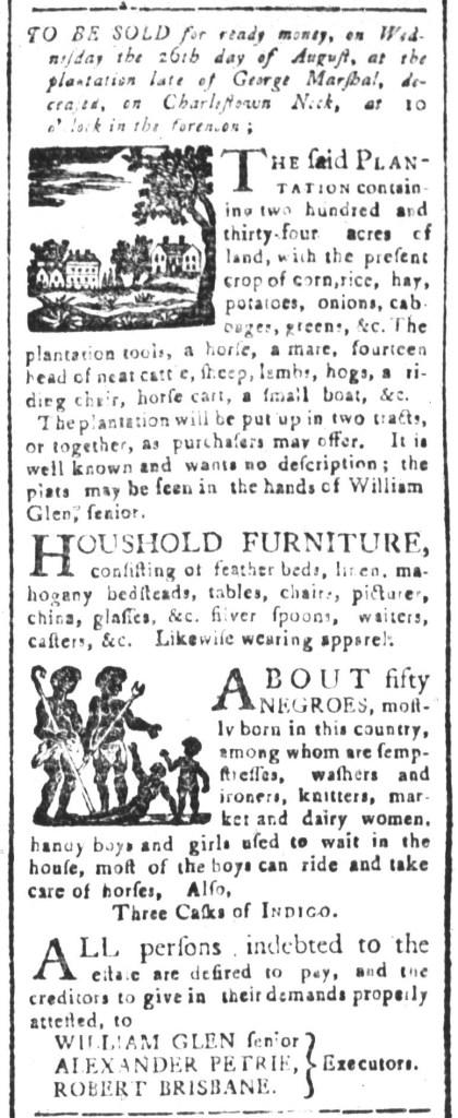 Aug 7 - South-Carolina and American General Gazette Slavery 8