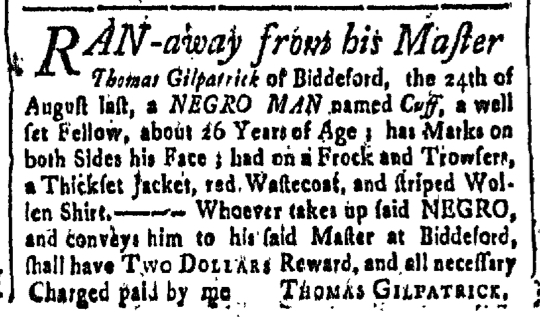 Sep 11 - New-Hampshire Gazette Slavery 1