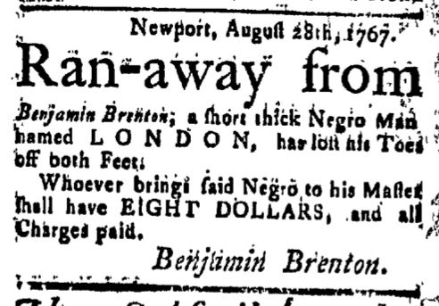 Sep 11 - New-London Gazette Slavery 1
