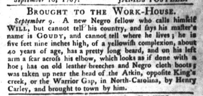 Sep 15 - South-Carolina Gazette and Country Journal Slavery 4