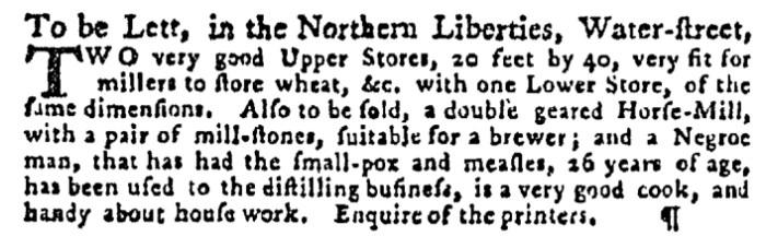 Sep 17 - Pennsylvania Gazette Supplement Slavery 3