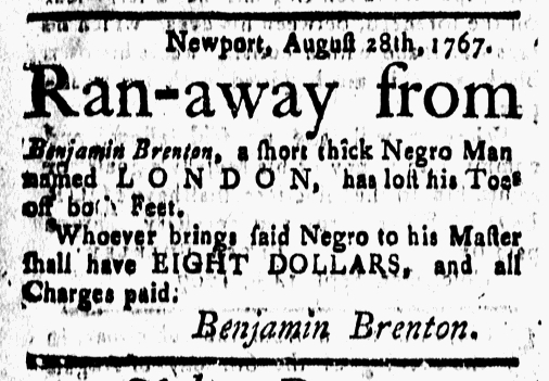 Sep 18 - New-London Gazette Slavery 1