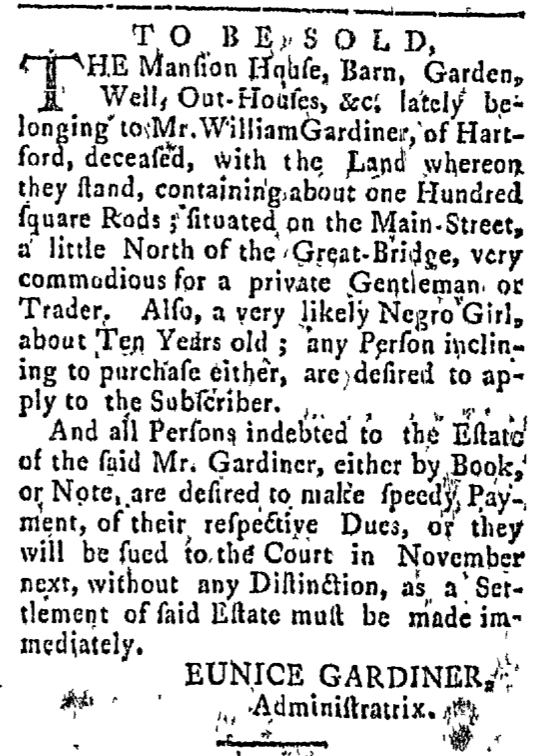 Sep 21 - Connecticut Courant Slavery 1
