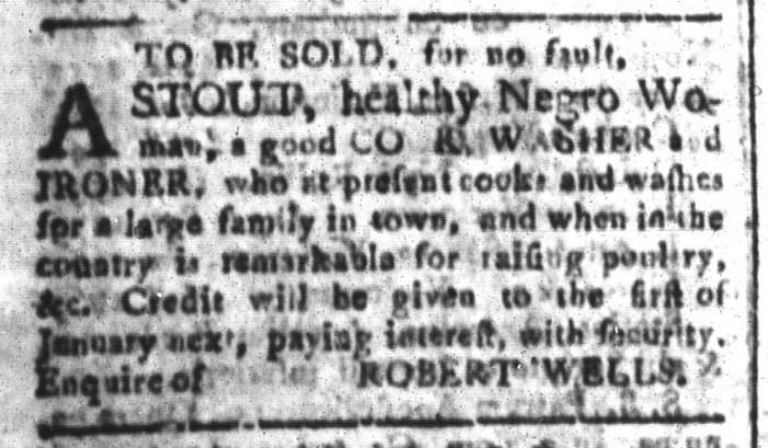 Sep 25 - South-Carolina and American General Gazette Slavery 1