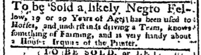Sep 7 - Pennsylvania Chronicle Slavery 1