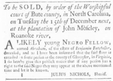 Oct 1 - Virginia Gazette Slavery 4