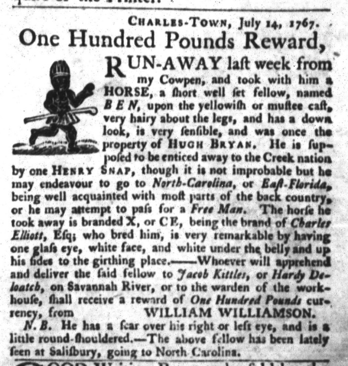 Oct 13 - South-Carolina Gazette and Country Journal Supplement Slavery 2