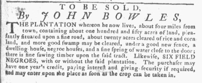 Oct 14 - Georgia Gazette Slavery 10