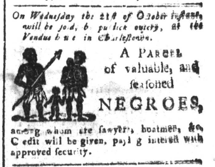 Oct 2 - South-Carolina and American General Gazette Slavery 2