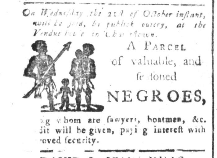 Oct 9 - South-Carolina and American General Gazette Slavery 3