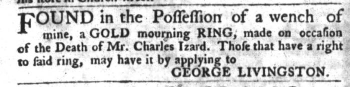 Nov 10 - South-Carolina Gazette and Country Journal Slavery 1