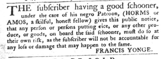 Nov 10 - South-Carolina Gazette and Country Journal Slavery 10