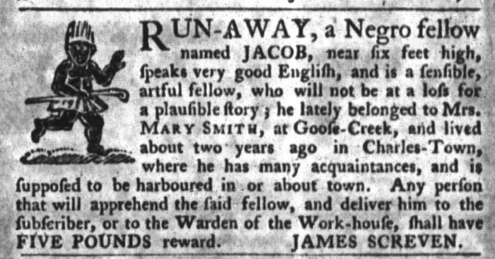 Nov 10 - South-Carolina Gazette and Country Journal Slavery 4