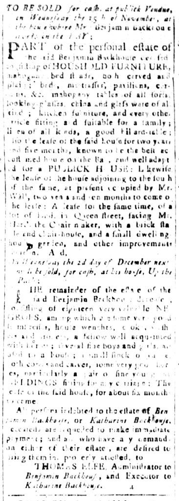 Nov 13 - South-Carolina and American General Gazette Slavery 6