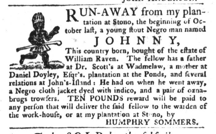 Nov 17 - South-Carolina Gazette and Country Journal Slavery 5