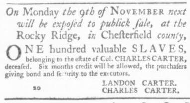 Nov 5 - Virginia Gazette Slavery 8
