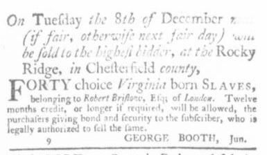Nov 5 - Virginia Gazette Slavery 9