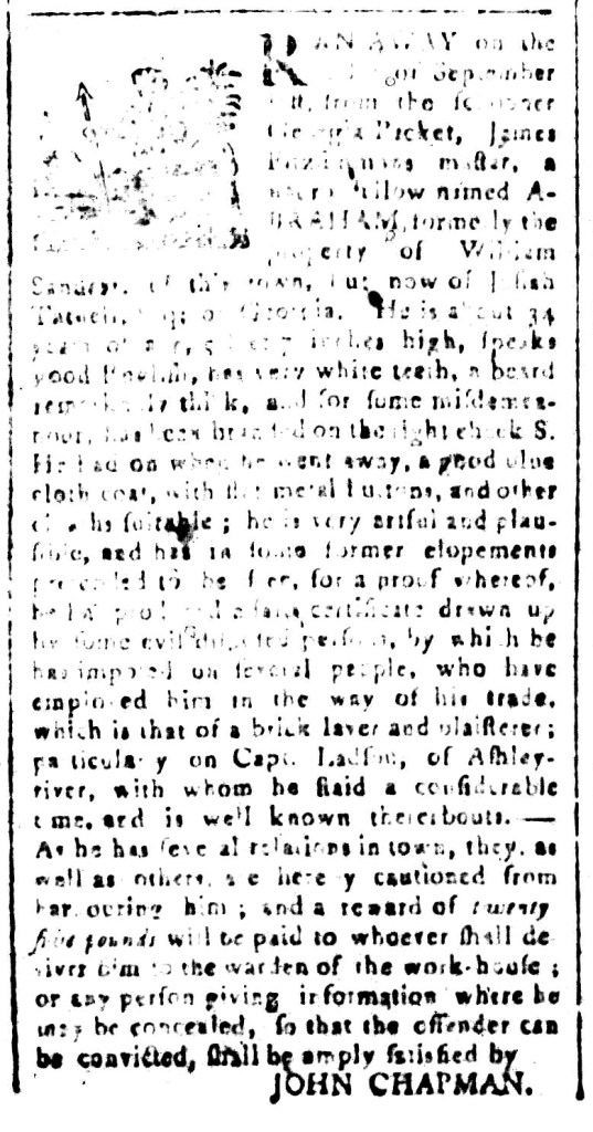 Nov 6 - South-Carolina and American General Gazette Slavery 2