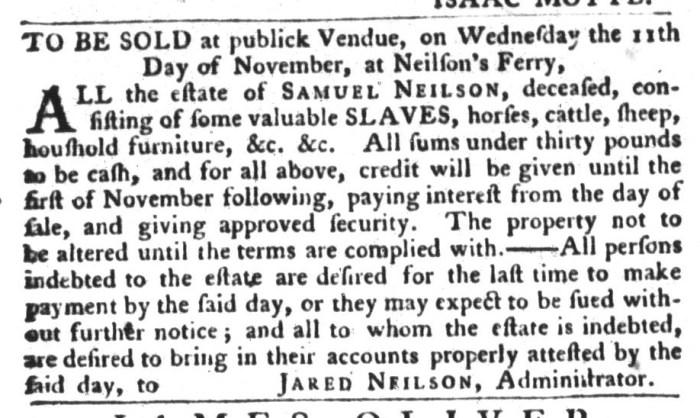 Oct 20 - South-Carolina Gazette and Country Journal Slavery 4
