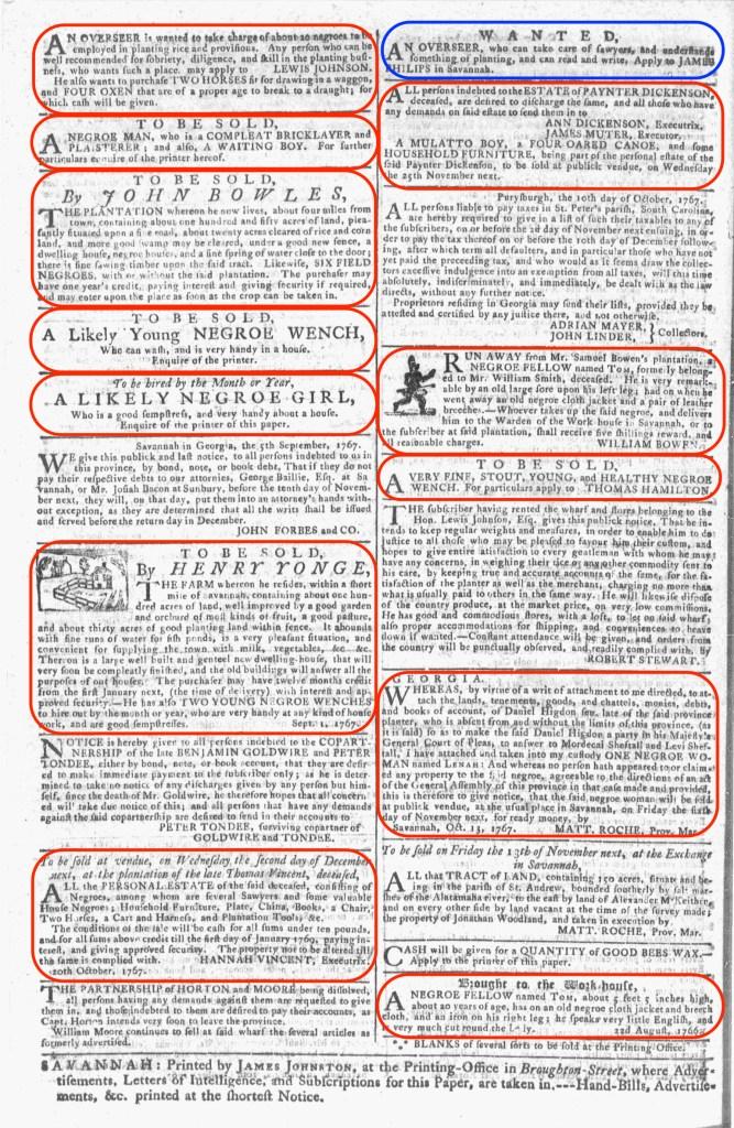 Oct 28 - 10:28:1767 Georgia Gazette