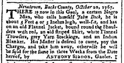 Oct 28 - Pennsylvania Chronicle Slavery 1