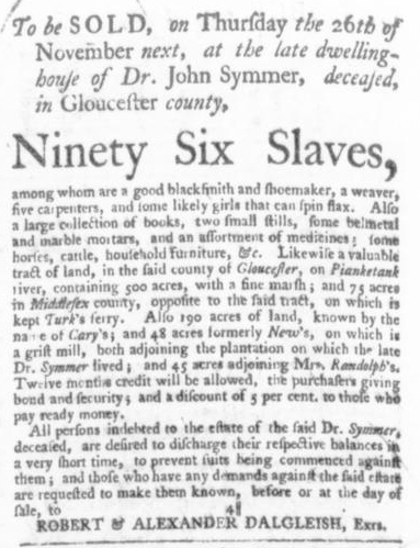 Oct 29 - Virginia Gazette Slavery 3