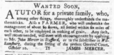 Oct 29 - Virginia Gazette Slavery 7