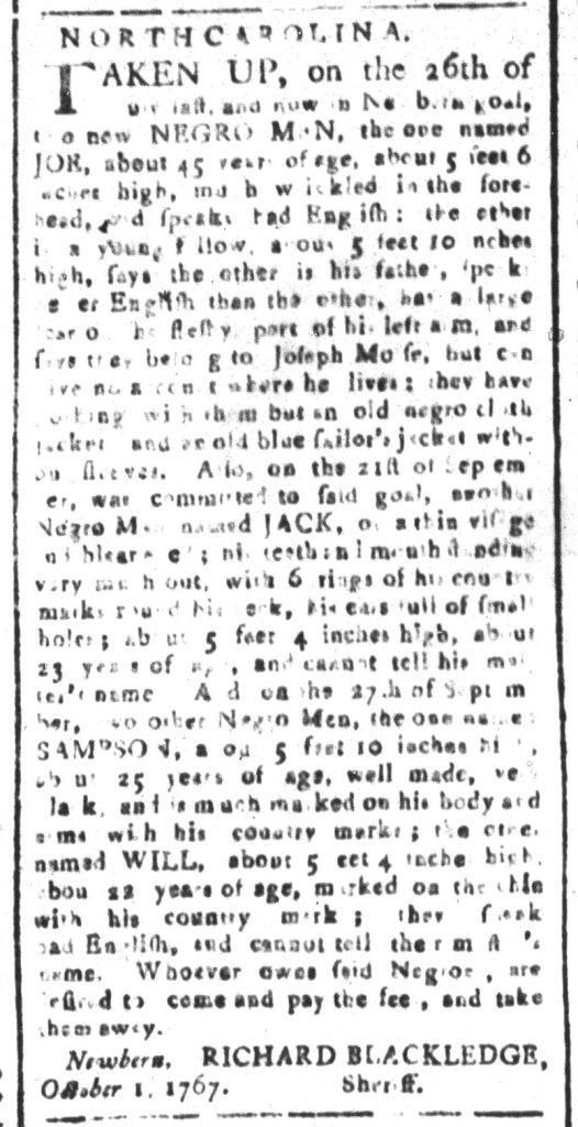Oct 30 - South-Carolina and American General Gazette Slavery 2