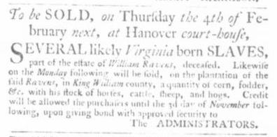 Dec 10 - Virginia Gazette Slavery 2