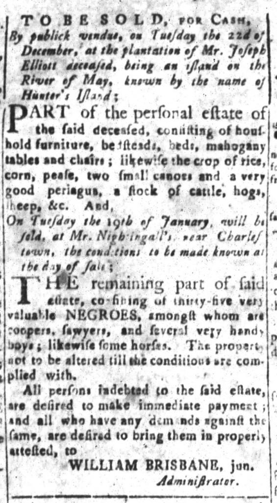 Dec 11 - South-Carolina and American General Gazette Slavery 9