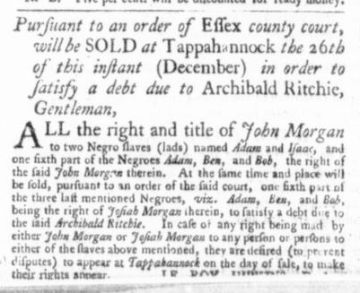 Dec 17 - Virginia Gazette Slavery 3