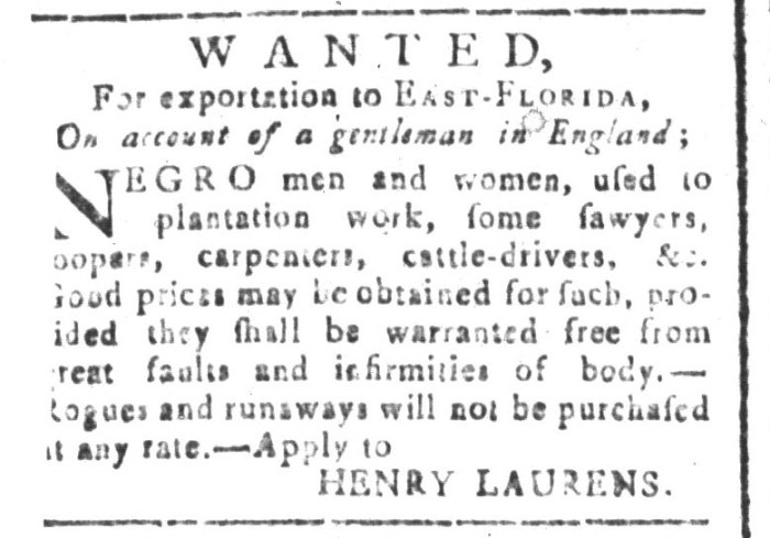 Dec 18 - South-Carolina and American General Gazette Slavery 2