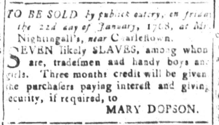 Dec 18 - South-Carolina and American General Gazette Slavery 8