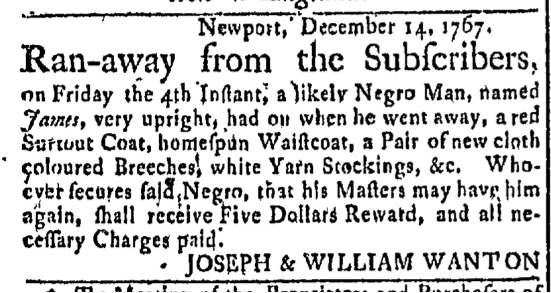 Dec 28 - Newport Mercury Slavery 1