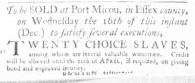 Dec 3 - Virginia Gazette Slavery 2