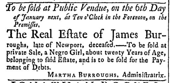 Dec 7 - Newport Mercury Slavery 1