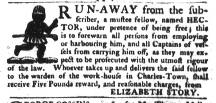 Dec 8 - South-Carolina Gazette and Country Journal Slavery 4