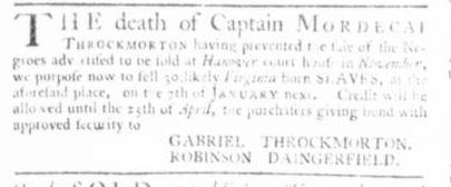 Nov 19 - Virginia Gazette Slavery 11